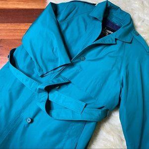 London Fog Turquoise/Green Coat Sz 12